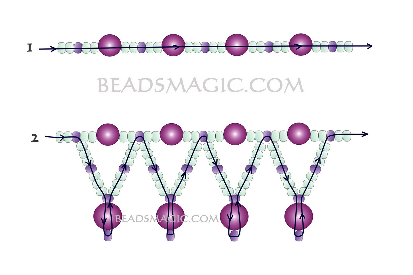 Free Pattern For Beaded Necklace Tenderness Beads Magic