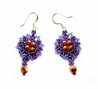 Free pattern for beaded earrings Violet | Beads Magic