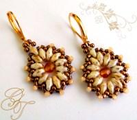Beadweaving - Earrings on Pinterest | Crystal Earrings ...