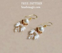 Free pattern for beaded earrings Paloma | Beads Magic