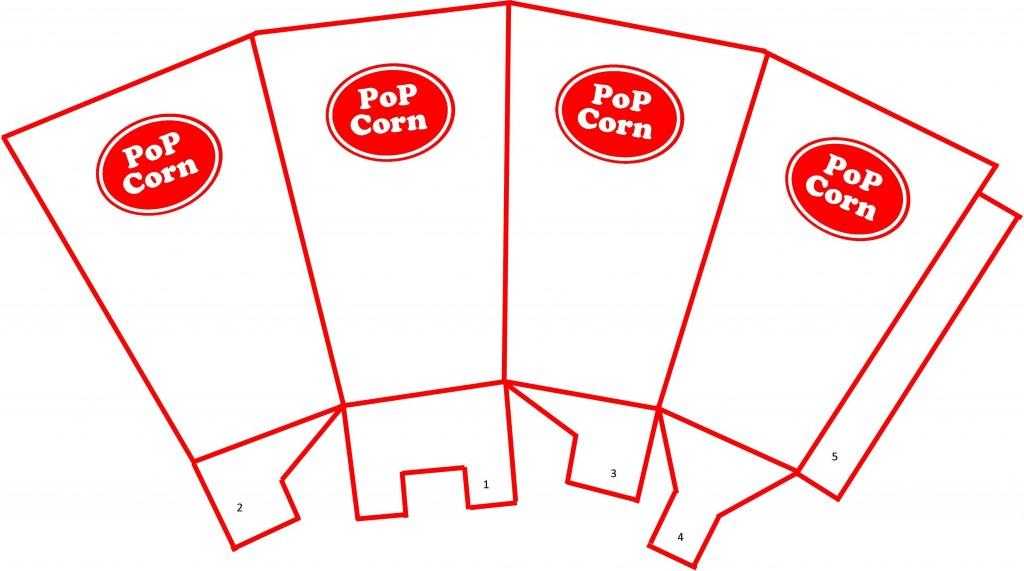 Popcorn Cup Free Printable Template \u2013 Be A Fun Mum