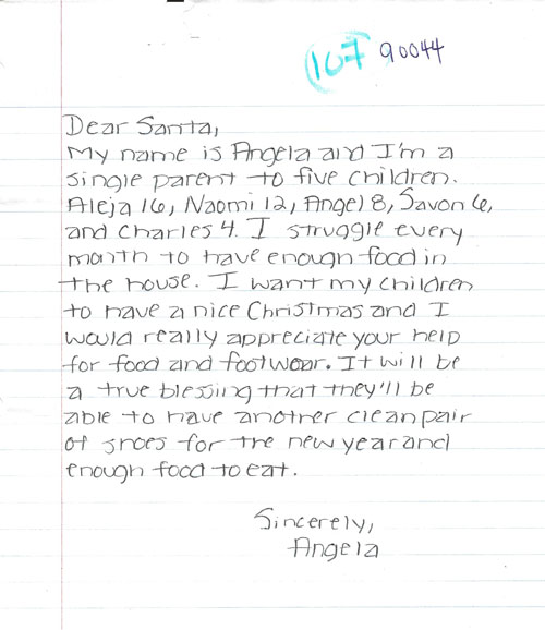 Real Letters to Santa Claus from Kids \u2013 Images, Photos, Scans of
