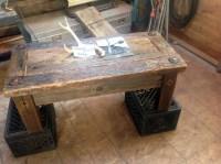 Refurbished Industrial Coffee Table | Bearcreek WoodWorks