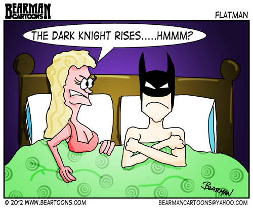 Bearman Cartoon The Dark Knight Rises Erectile Dysfunction