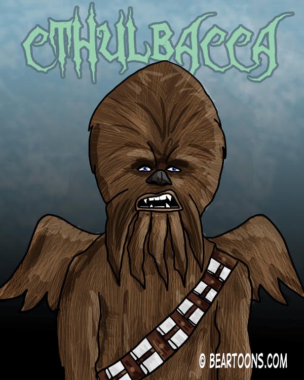 Cthulbacca by Bearman Cartoons