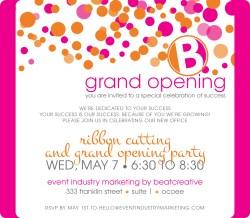 Small Of Grand Opening Invitation