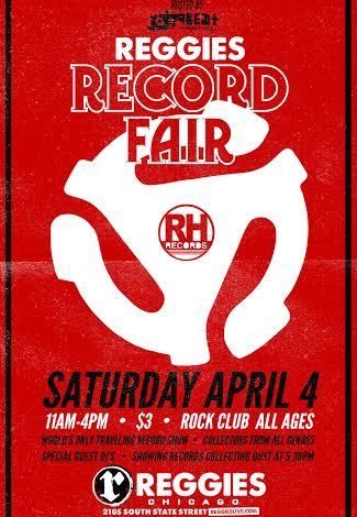 APRIL 4TH 2015: REGGIES RECORD FAIR