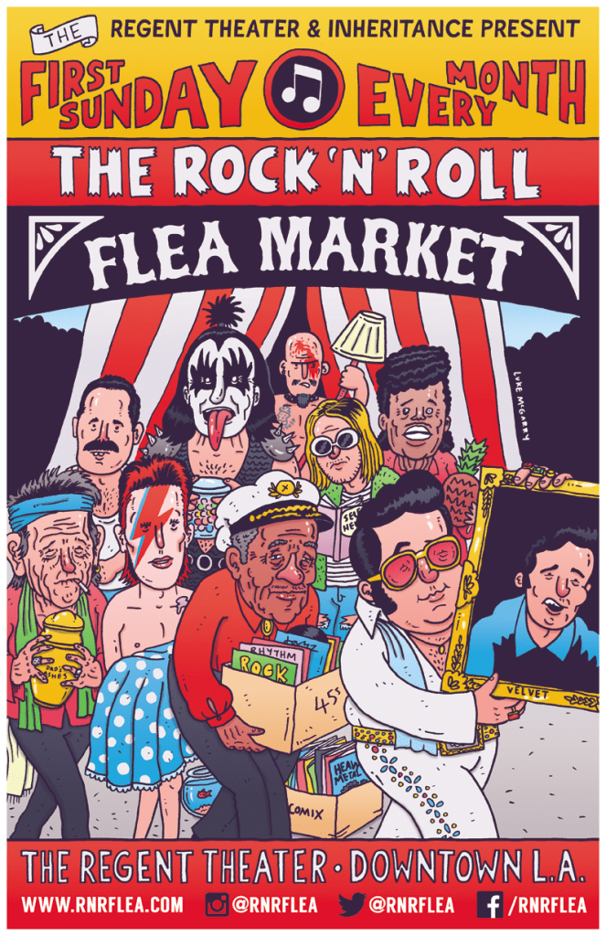 Rock N Roll Flea Market - flyer