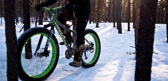 fat tire in the snow