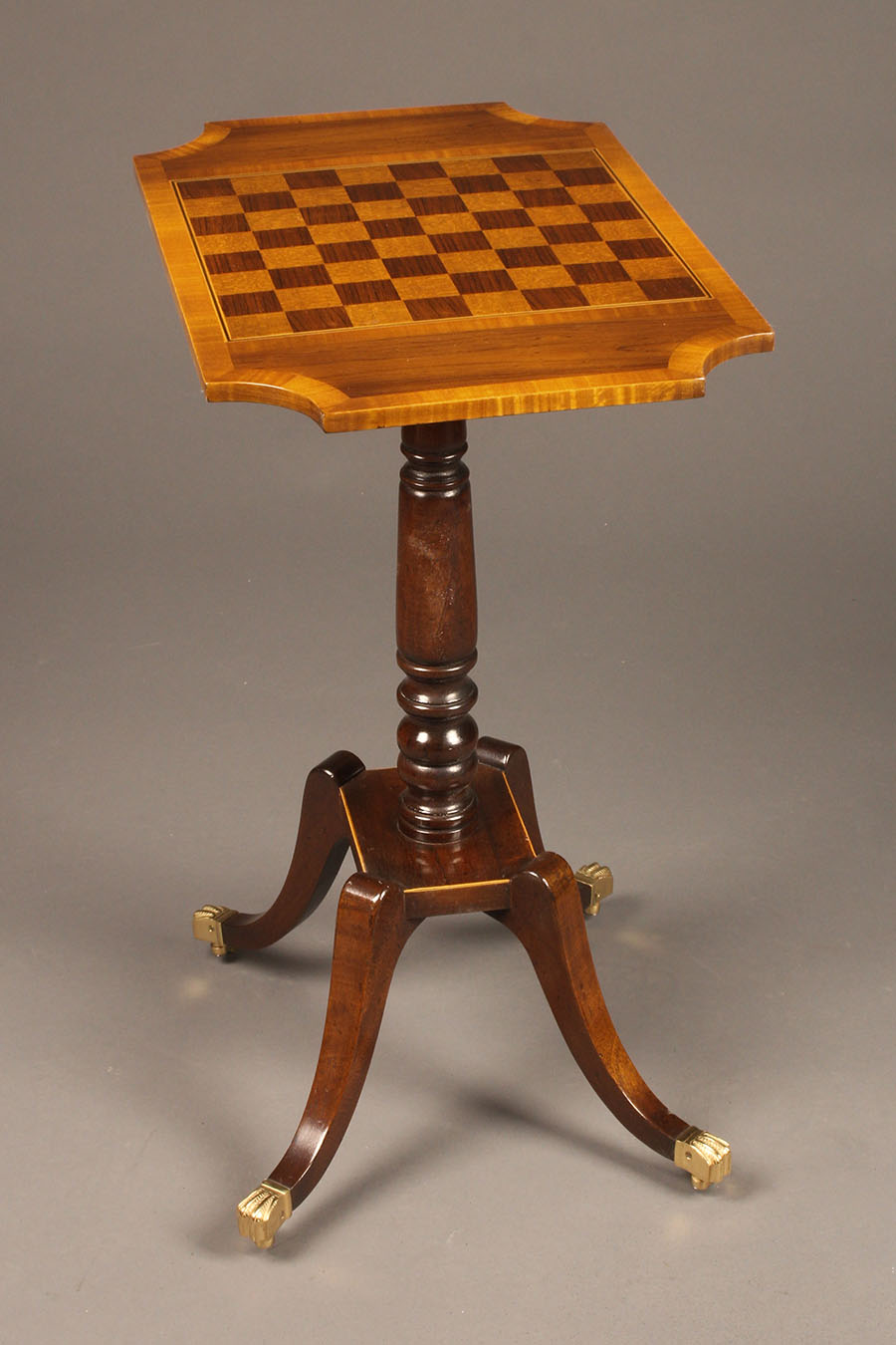 Chess Table Custom English Chess Table On 4 Leg Pedestal