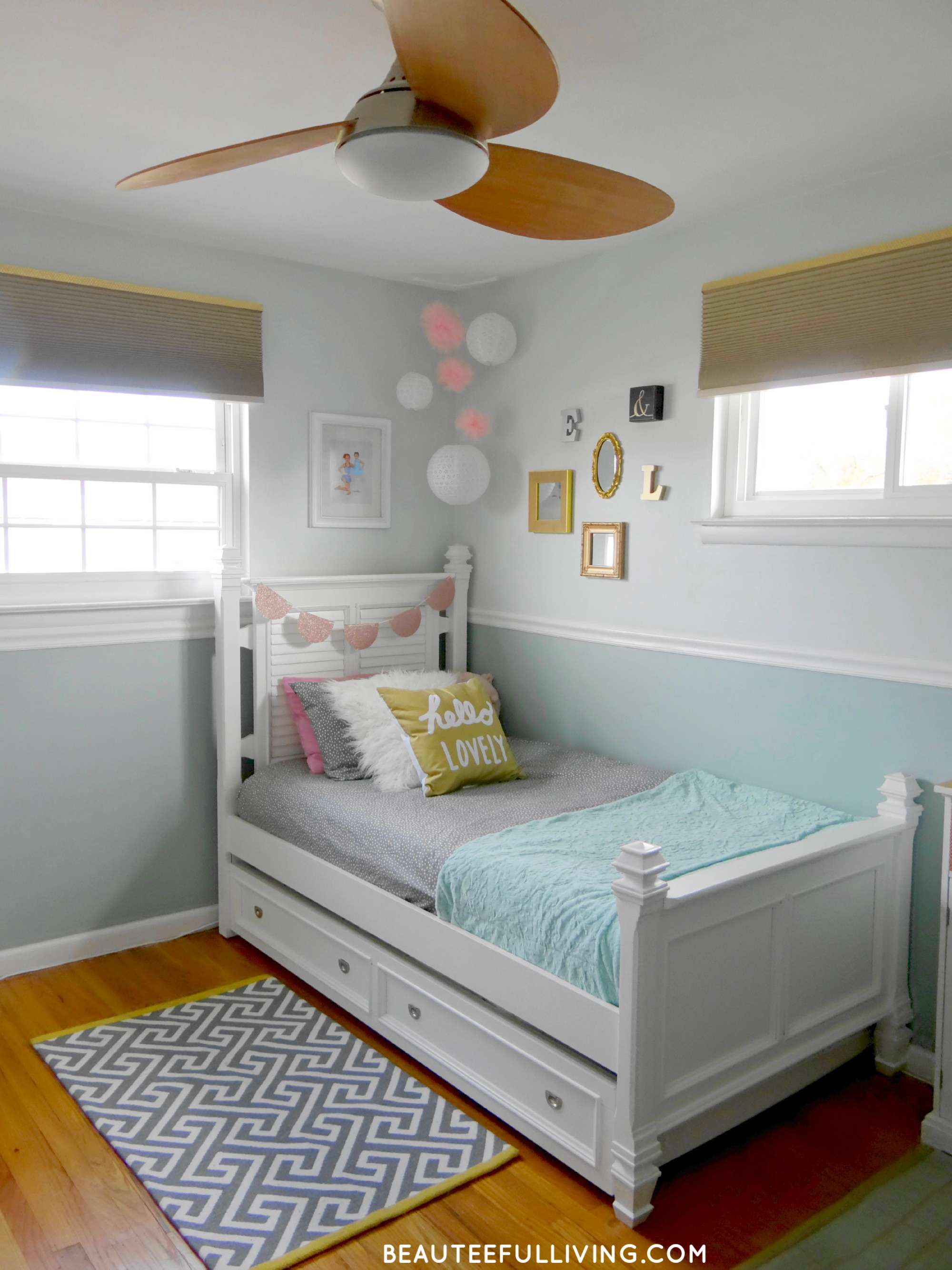 Ceiling Fan Girls Room Girls Room Makeover Ceiling Fan Beauteeful Living Beauteeful
