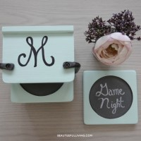 Family Night Coasters - Thrift Flip Challenge