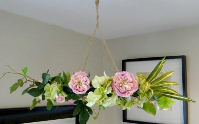 Hanging Floral Chandelier DIY