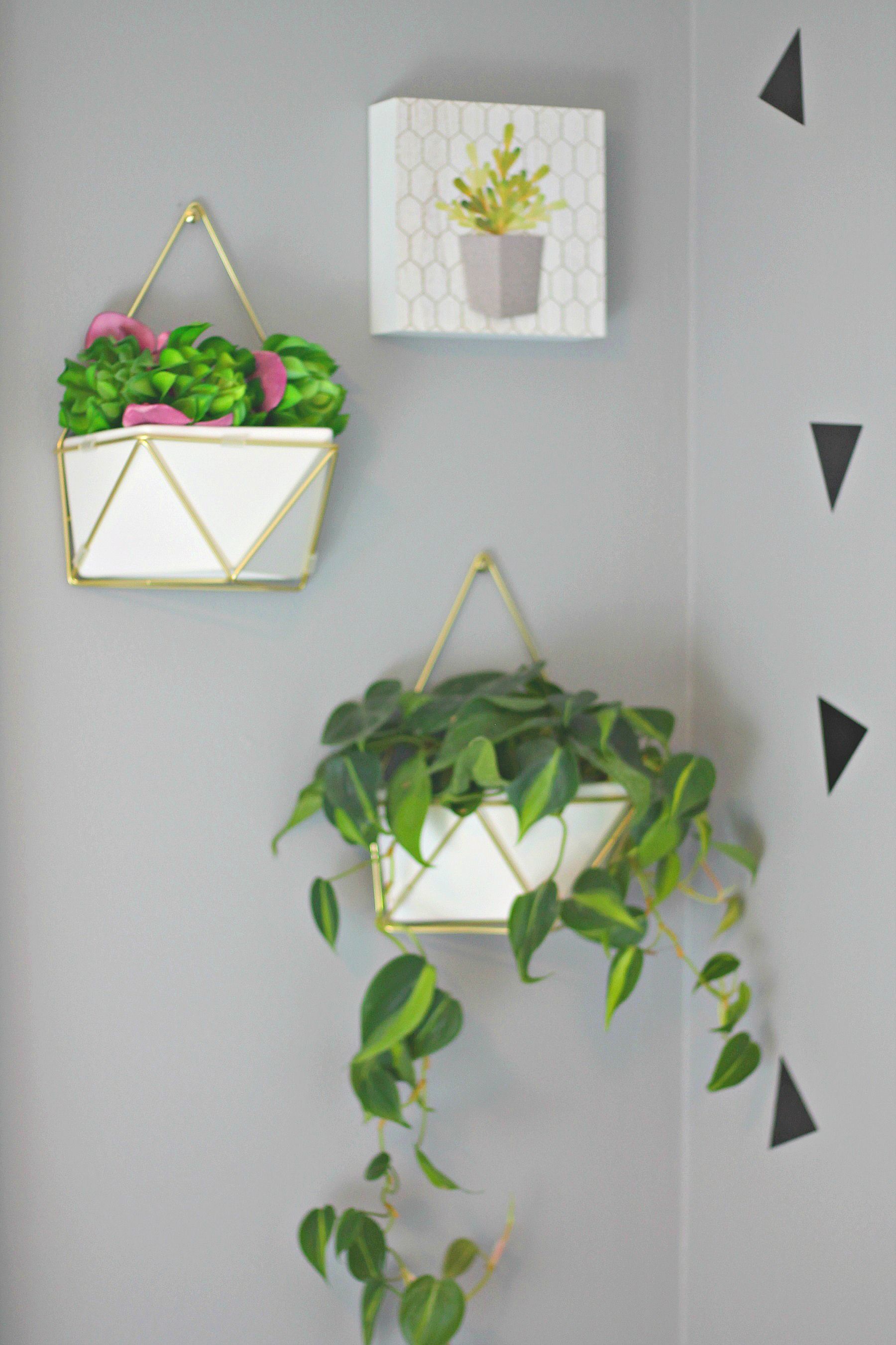 Wall Hanging Plants Hipster Chic Girl 39s Room Reveal Orc Week 7 Beauteeful