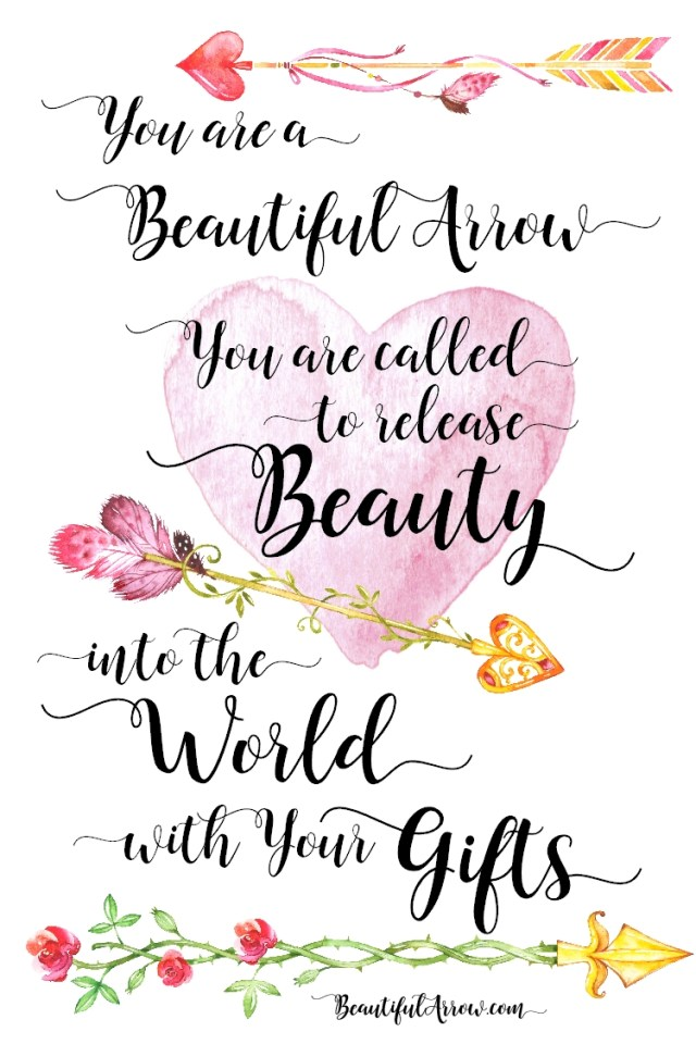 Free Printable: Beautiful Arrow Quote Index Card