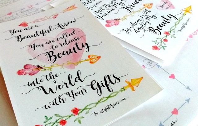 Free Printables: Beautiful Arrow & Isaiah 49 Index Cards
