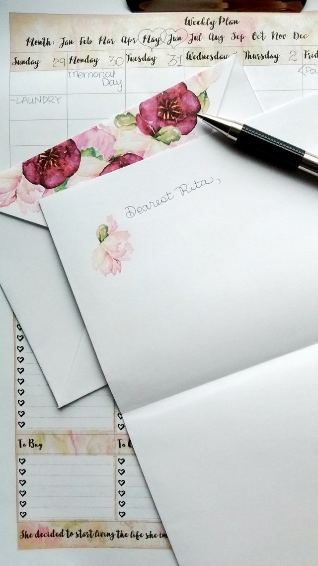 Beautiful Free Printable Floral Thank You Card and Envelope!