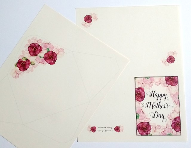 Free Printable Mini Mother's Day Card & Envelope set!