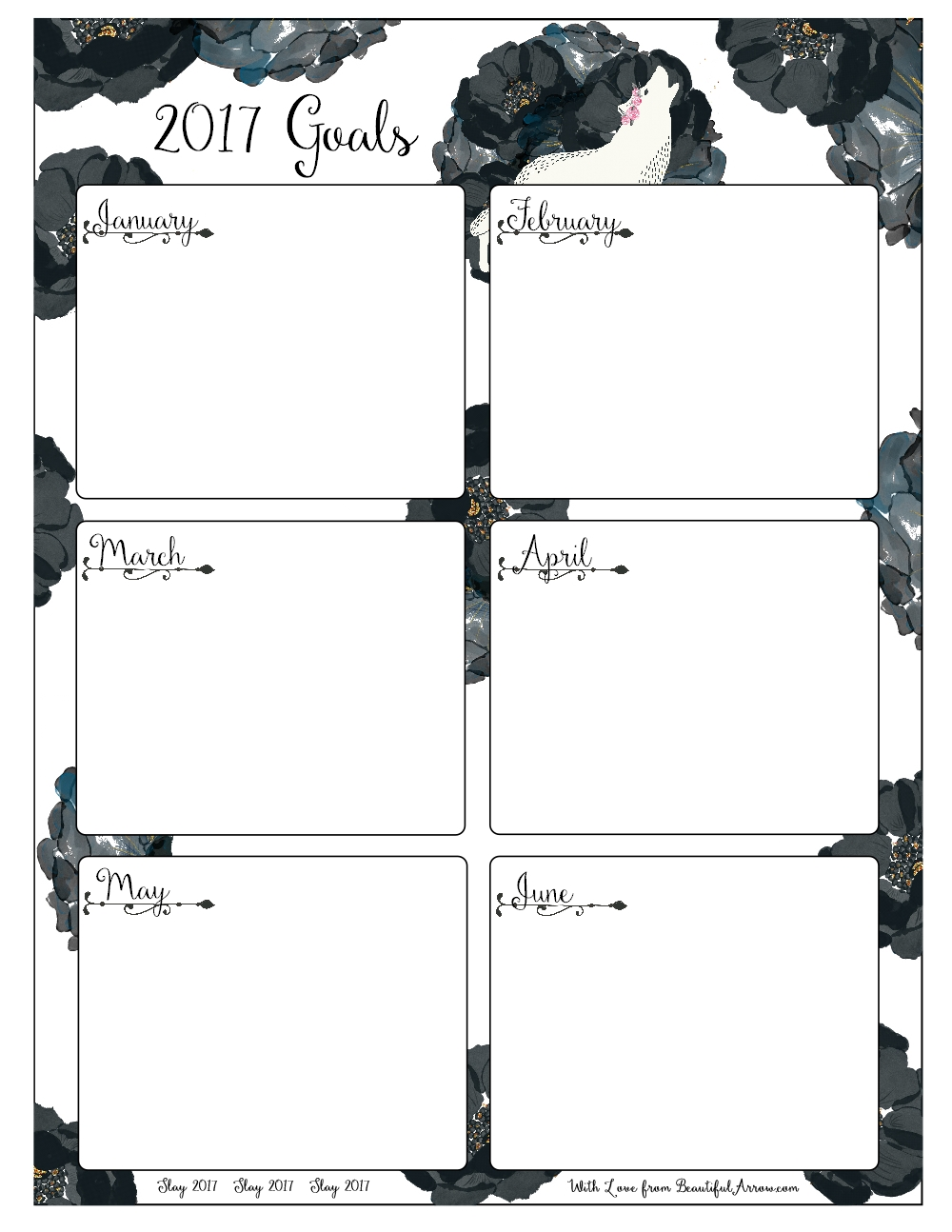 pretty fierce goal setting worksheets for and a 6 month goal worksheet for through of 2017 to be able to see at a glance the goals and accomplishments you are planning for each month