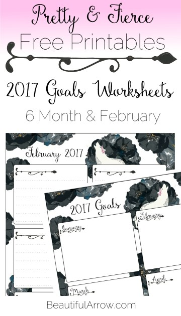 Free Download: White Wolf and Black Roses 2017 Goals Worksheets