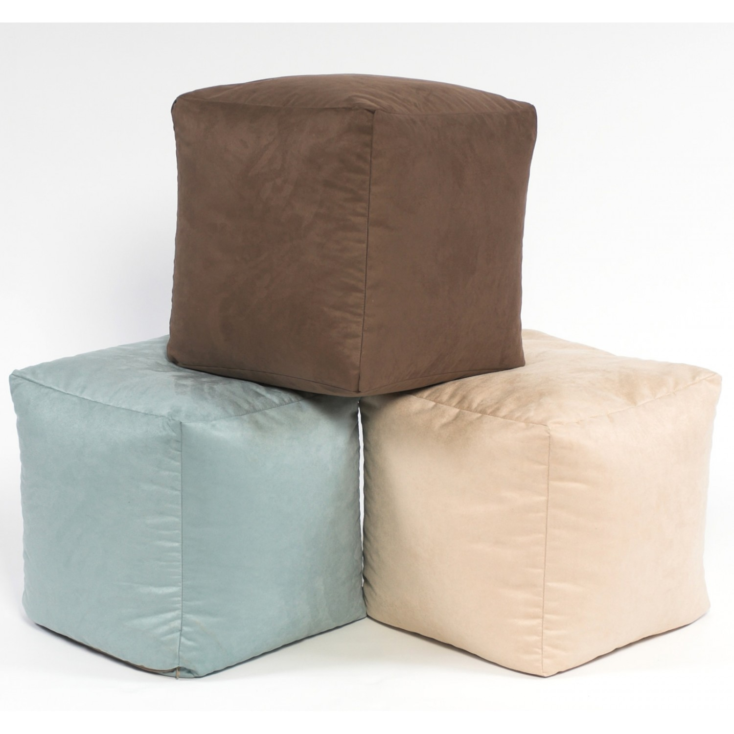 Bean Bag Footstool Footstool Cube Faux Suede