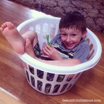 15 boy in a basket