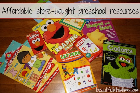 affordable store-bought preschool resources