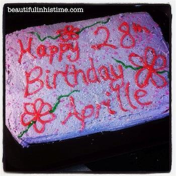 21 28th birthday cake