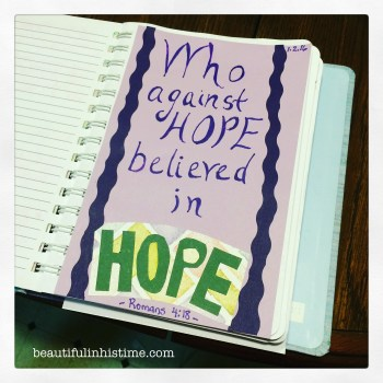 Bible Journaling: Art Therapy for my Bible Scars - Romans 4:18
