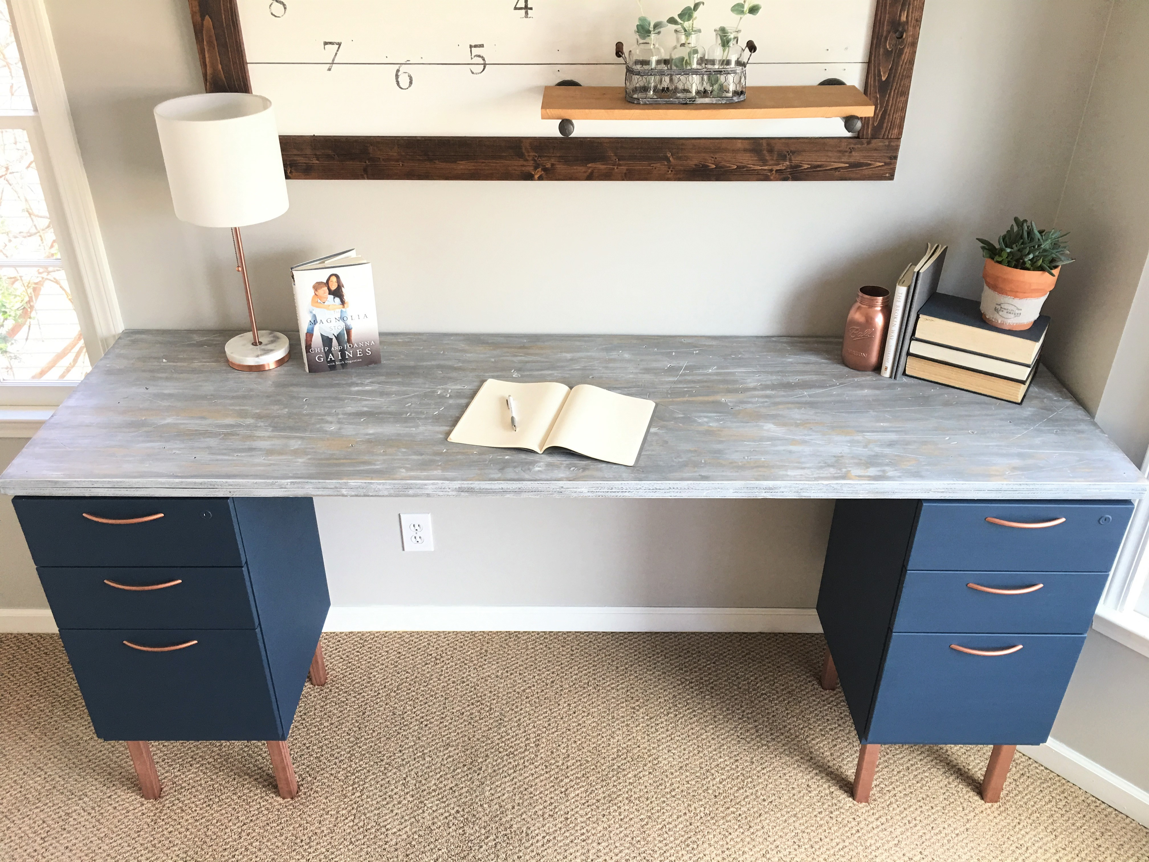 Desk With File Cabinet Ugly Home Office Makeover Part 5 The Diy File Cabinet Desk And