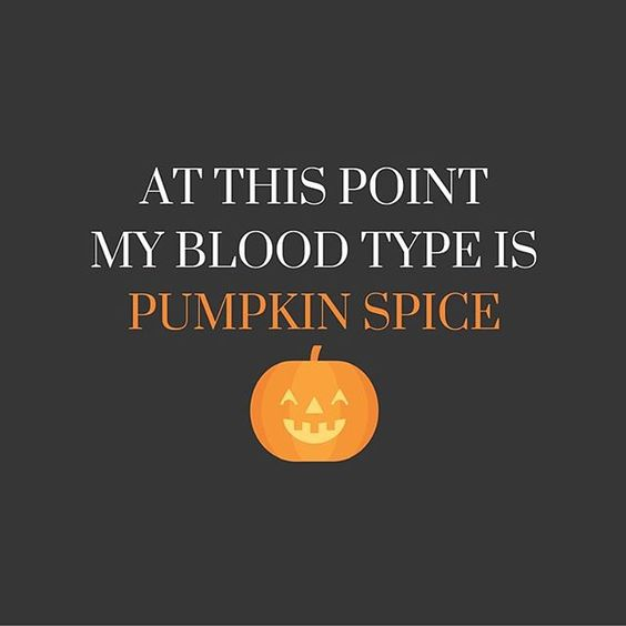 Image result for autumnmy blood type is pumpkin spice