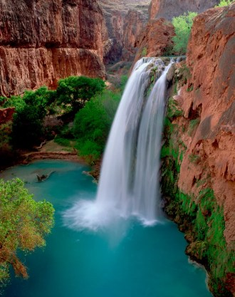 Havasu Falls, Havasupai Reservation, Grand Canyon National Park, Arizona, USA