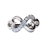 Infinity Promise Ring with 2 Joined Hearts - Beautiful ...