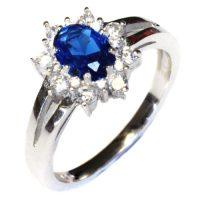 Sapphire Promise Ring - Blue Cubic Zirconia - Beautiful ...
