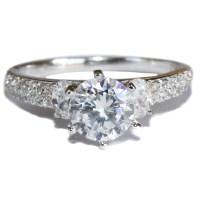 Solitaire Diamond Promise Ring - White Cubic Zirconia ...