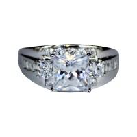 Chunky Diamond Promise Ring - White Cubic Zirconia ...