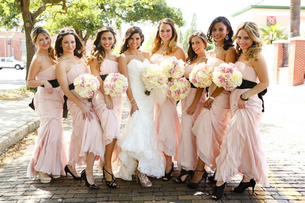 Wedding Gallery - Beautiful Tampa Weddings - pink black and white weddings