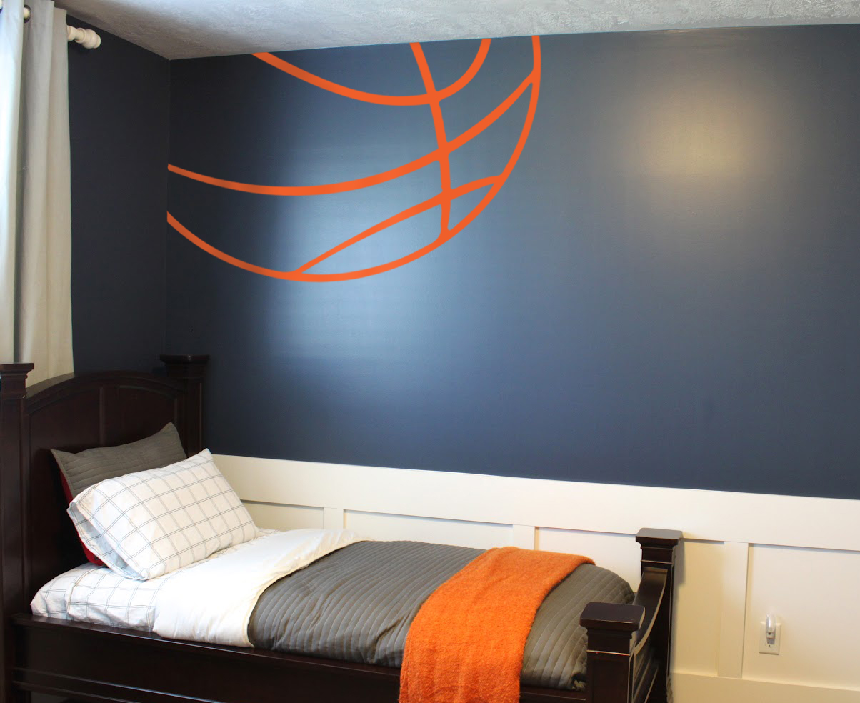 Cool Wall Decal Basketball Lines