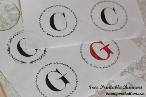 Free Printable Banner Templates Alphabet with Different Styles
