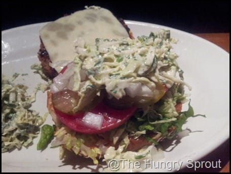 Houston's Veggie Burger w/ coleslaw