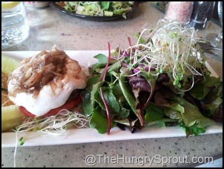 Sunlight Burger and salad