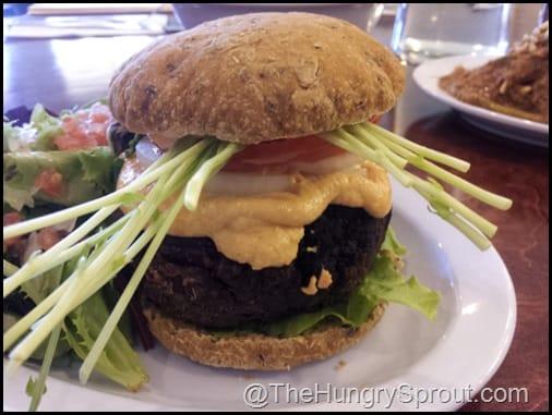 Veggie Burger The Vegan Cafe