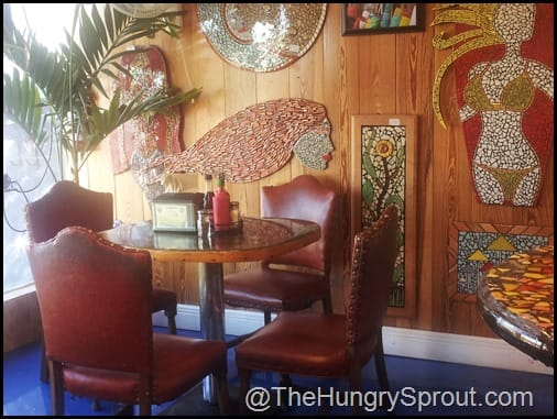 dining room at Jazzy's Mainely Lobster