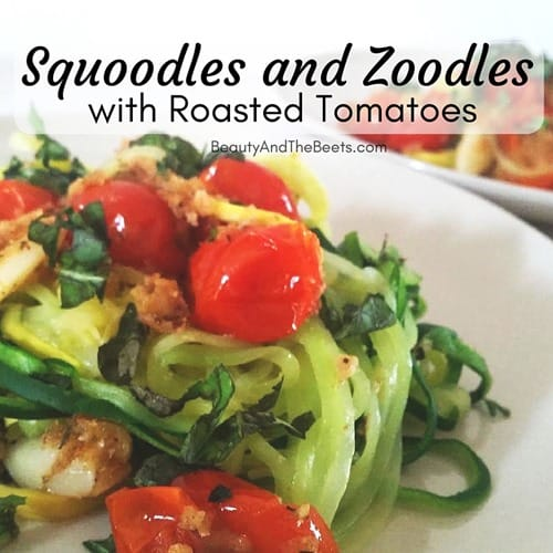 Squoodles and Zoodles with Roasted Tomatoes (Squash and Zucchini ...
