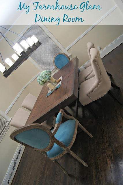 My Farmhouse Glam Dining Room