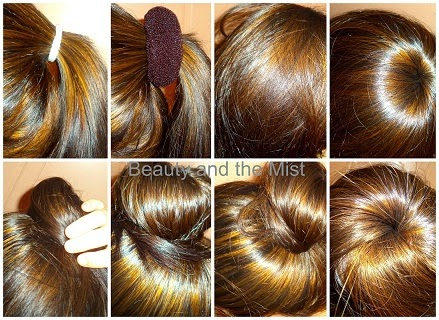 Hair bun with Donut + New Hair Colour