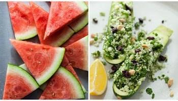 watermelon and zucchini Collage