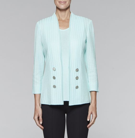 Double Button Textured Jacket