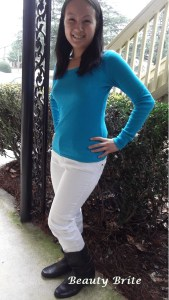Modeling the WhiteOut skinny jeans