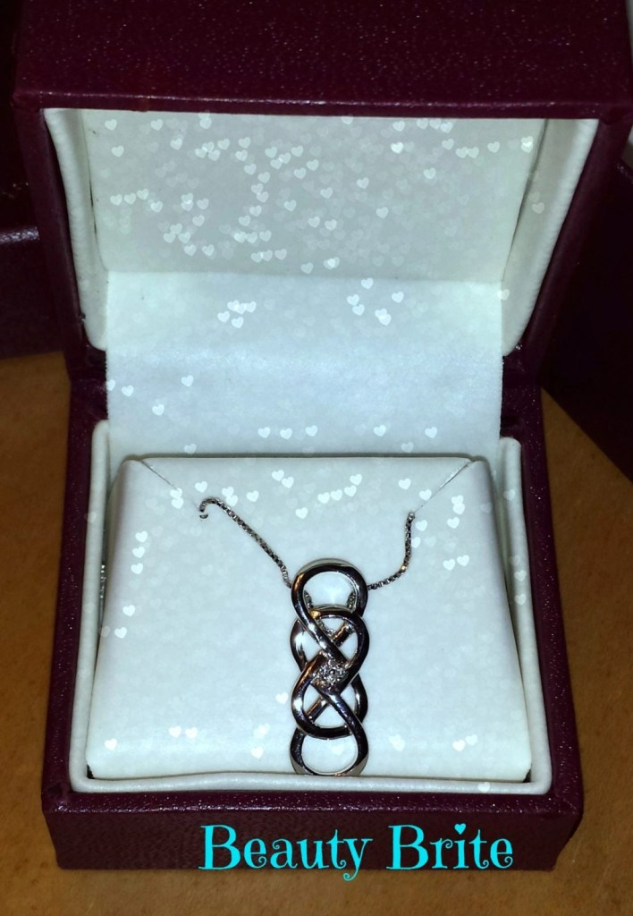 INFINITY X INFINITY Diamond Pendant in Sterling Silver